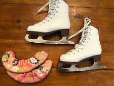 Jackson Glacier Bay 120 White Figure Ice Skates Girls Youth Size 11 Kids EUC
