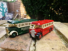 DAYS GONE by Lledo lot 2 BUS AEC REGAL HAMLEY et LONDON comme neuf sans boite