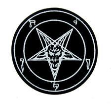 Sabbatic Baphomet Goat Head Patch Iron on Applique Occult Clothing Anton LaVey