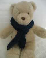 Teddy Bear Clothes, Handmade Navy Knitted Scarf