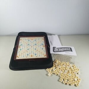 Scrabble Travel Game Hasbro 2009 Softshell Zip Up Complete