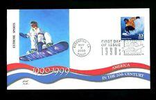 US FDC #3191d Fleetwood CTC Escondido, CA Extreme Sports snowboarding 5/2/2000