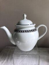 Lenox Casual Images Diamond Ring Pattern Tea Pot Excellent Condition