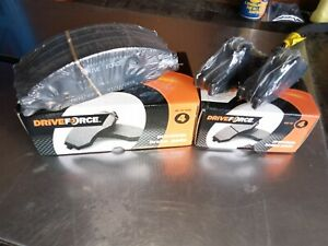 FORD BA BF FALCON FULL SET DRIVEFORCE FRONT & REAR BRAKE PADS NEW