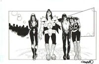CARY NORD KISS ORIGINAL ART-GENE SIMMONS, PAUL STANLEY,ACE FREHLEY-FREE SHIPPING