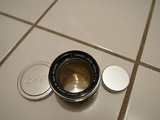 CLEAN CANON 50MM F/1.2 M39 LEICA SCREW MOUNT RED EP E.P. RANGEFINDER RF LENS LTM