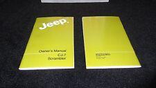 1985 Jeep CJ owner's manual