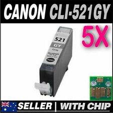 5x Grey Ink for Canon CLI-521 CLI-521GY for PIXMA  MP980 MP990