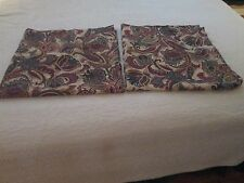Burlington Teal, Green, Red, and Gold Paisley Curtain Panels--2