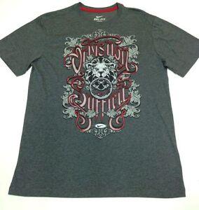 Nike Special LeBron Men's Dri-Fit Grey / Red Basketball T-Shirt 465614-071 M-2XL