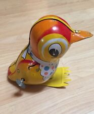 1950'S VINTAGE WIND -UP TIN -BIRD BY T.P.S (Made in Japan)
