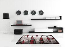 New York Ciudad Alfombra Moderna NYC Alfombrilla de Diseño Plata gris 160x230