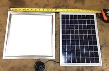 10W 12V Solar Panel Shed Barn Garage DIY USB Charge NEW FREE 8W Square LED Light