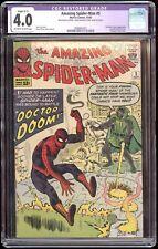 Amazing Spider-Man #5 CGC 4.0 Restored Slight (C-1) Dr Doom 1963