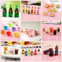 1:12 Scale Dollhouse Miniatures Mini Coffee Cup Juice Bottle Gifts Resin Toys