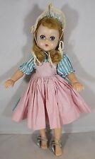"VINTAGE 1950s 11"" MADAME ALEXANDER IN PLASTICA RIGIDA Lizzy doll in abito originale"