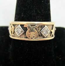 Antique Masonic Diamond Ring 14k Gold Shriner Master Mason 32nd Degree Freemason