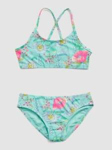 Gap Kids Girl's Aqua Floral Strappy Two Piece Swim Suit NWT Various Sizes