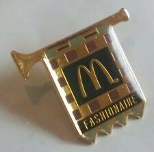 Vintage Fashionaire Fashionare Trumpet McDonalds BAND Fastfood Brooch Button Pin