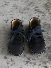 Navy Blue Toddler Suede Boots