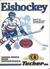 EHC 80 NÜRNBERG - ESV KAUFBEUREN 01.02.1991, 2.Bundesliga Eishockey 90/91