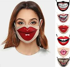 Sexy big red lips Reusable and Washable Fashion Mouth Cover Face Funny Unisex