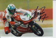 Raúl Vázquez mano firmado 7x5 Foto Mahindra Racing Moto 3 MotoGP 1.