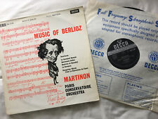 RARE SXL 2134 Berlioz Overtures Martinon First UK Decca ED1 WBG 1959 LP EX+/EX