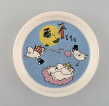 """Arabia, Finland. """"The flying moomins"""" Porcelain plate with motif from """"Moomin""""."""