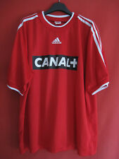 Maillot Equipe de France Adidas Entrainement porté vintage CANAL + rouge - XL