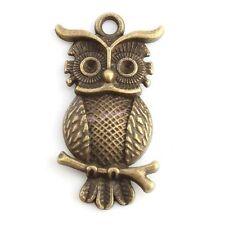 20x 143641 Wholesale Owl Vintage Bronze Tone Alloy Pendant Fit Necklace Lots
