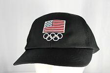 Olympic USA Flag Black Baseball Cap Adjustable