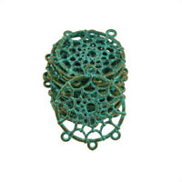 20pcs Antique Alloy Dream Catcher Charms Pendants 4 Holes DIY Jewelry Connectors