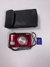 Nikon Coolpix L26 16.1MP Digital Camera with 5x Optical Zoom - Red W/ SD card!