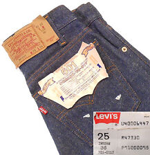LEVIS 501 BUTTON FLY VTG 1985 NWT PAPER TAG STUDENT FIT JEANS MADEin USA W25 L36