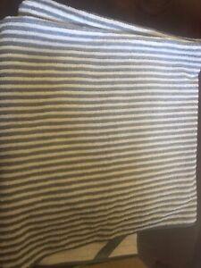 Norwex New bath towel stripes graphite/vanilla