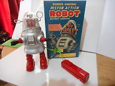 tole tin toy action robot robby remote control filoguidé