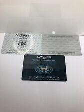 Longines Vintage Watch International Guarantee Cards Job Lot X3