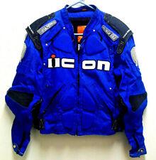 Mens ICON Timax Titanium Armored Motorcycle Riding Jacket Medium