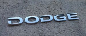 Dodge emblem letters badge decal logo Avenger Caravan Stratus OEM Genuine Stock