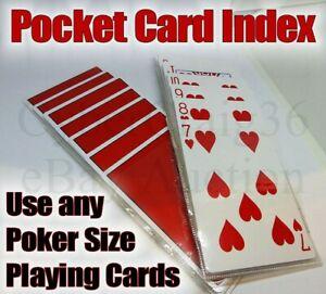 PLAYING CARD POCKET INDEX MENTALISM PREDICTION ULTIMATE MAGIC TRICK UTILITY PROP