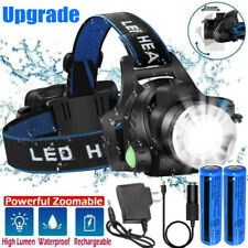 990000LM Super Bright LED Headlamp Rechargeable Headlight Flashlight Head Torch