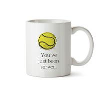 You've Just Been Served Mug Tennis Racket Coffee Serve Cup Sport Tea 10oz Gift