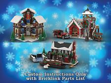 Lego conjuntos de Aldea de Invierno Paquete 2 instrucciones solo para ladrillos Lego (Navidad)