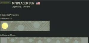 Destiny 2 Misplaced Sun Emblem Code 🔥 Sale