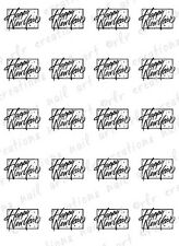 20 NAIL DECALS * HAPPY NEW YEAR BLACK SCRIPT CELEBRATE*  WATER SLIDE NAIL DECAL
