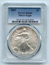 2003 $1 American Silver Eagle Dollar PCGS MS69