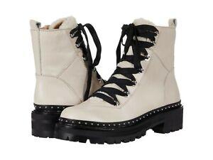 Women's Shoes Steve Madden RAINIER Faux Fur Platform Ankle Booties BONE LEATHER