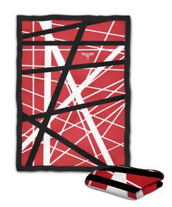 Eddie Van Halen Guitar Graphic Fleece Blanket 80 x 60 inches