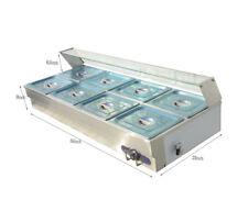 8-Pan Bain-Marie Buffet Steam Table Restaurant Food Warmer 110V HighA-Quality